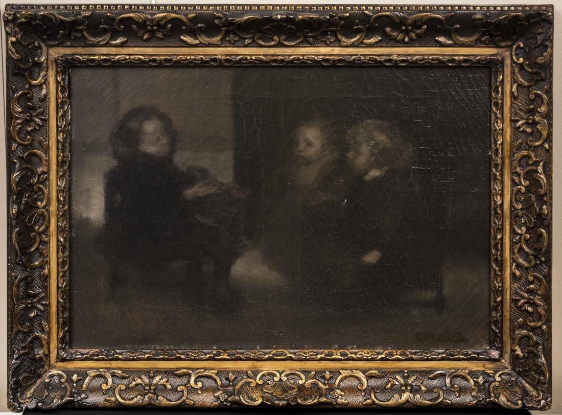 EUGE?NE CARRIE?RE (1849-1906) Conciliabule d'enfants - 2