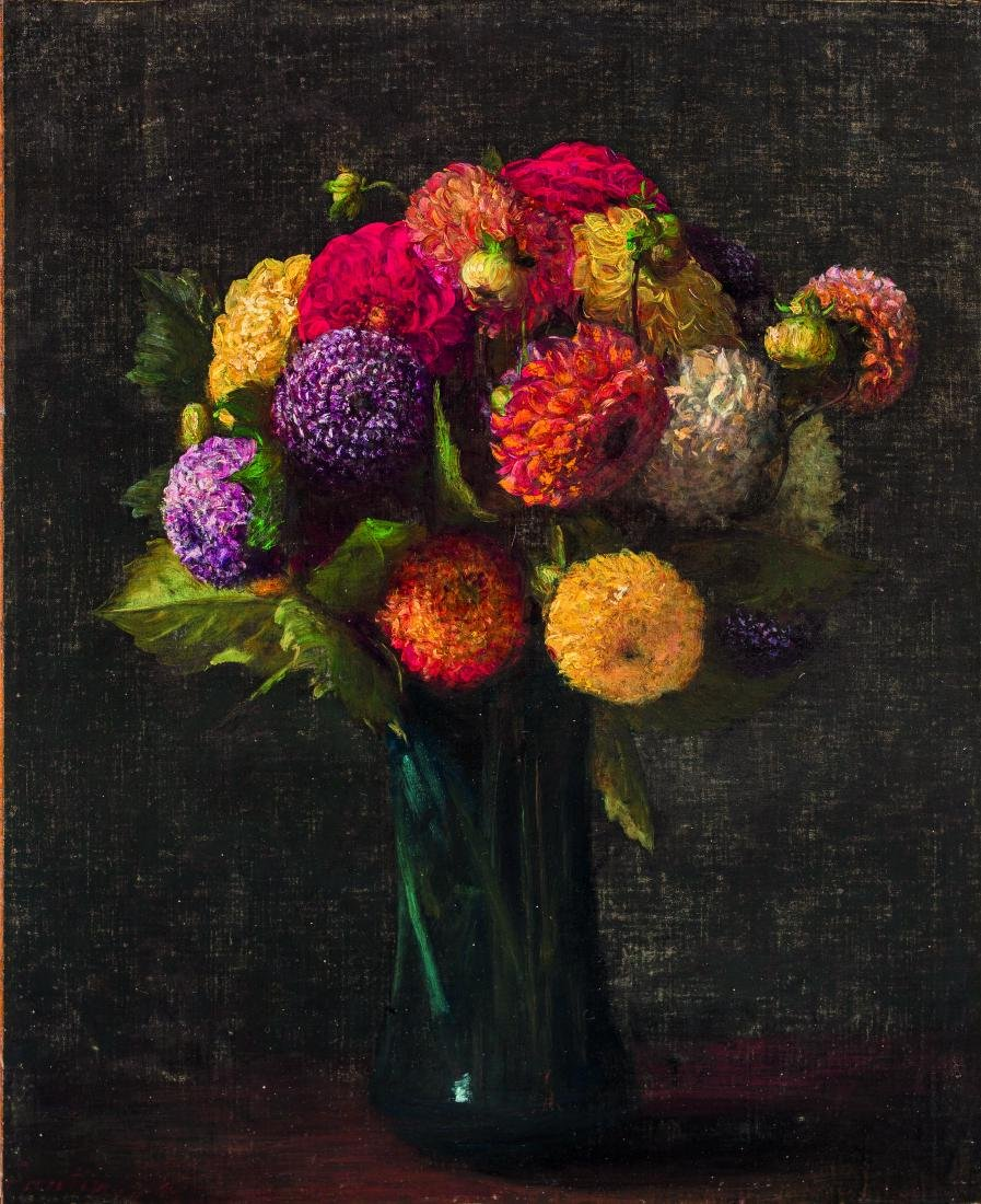 HENRI FANTIN-LATOUR (1836-1904) Dahlias signe? et date?