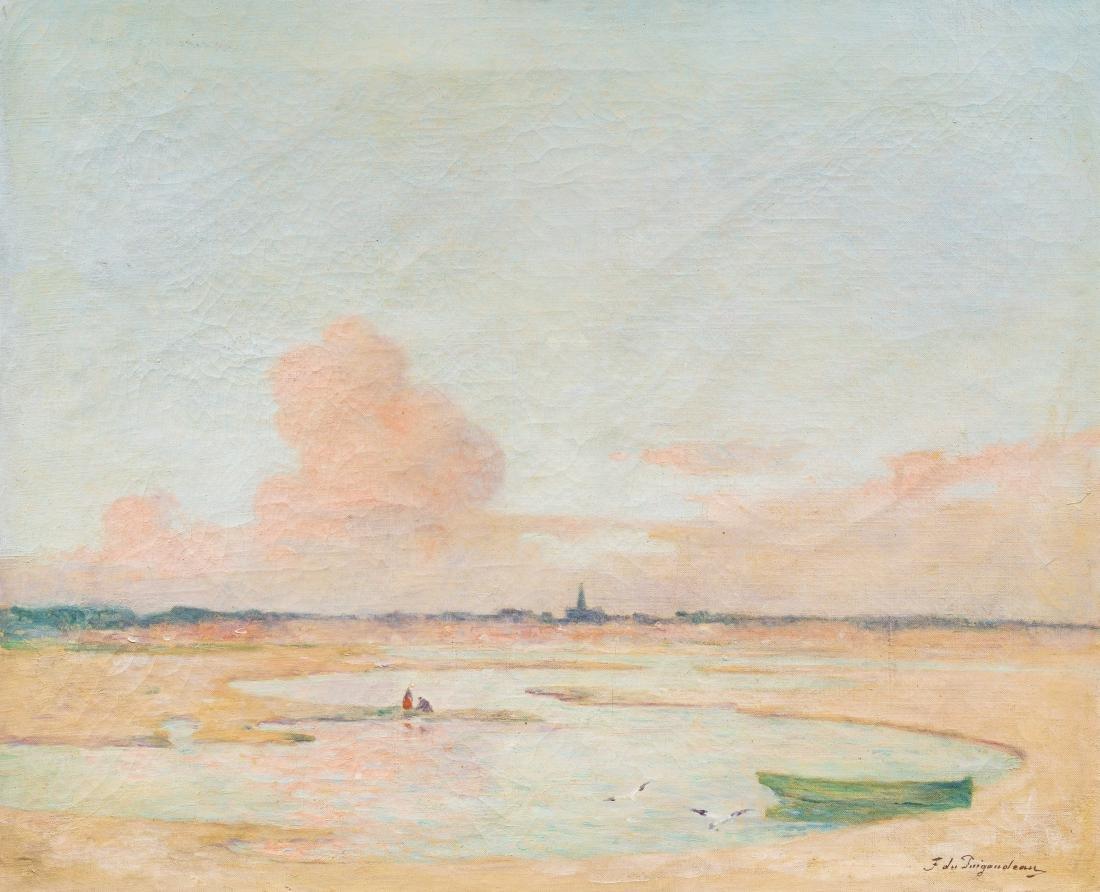FERDINAND DU PUIGAUDEAU (1864-1930) Soleil couchant sur