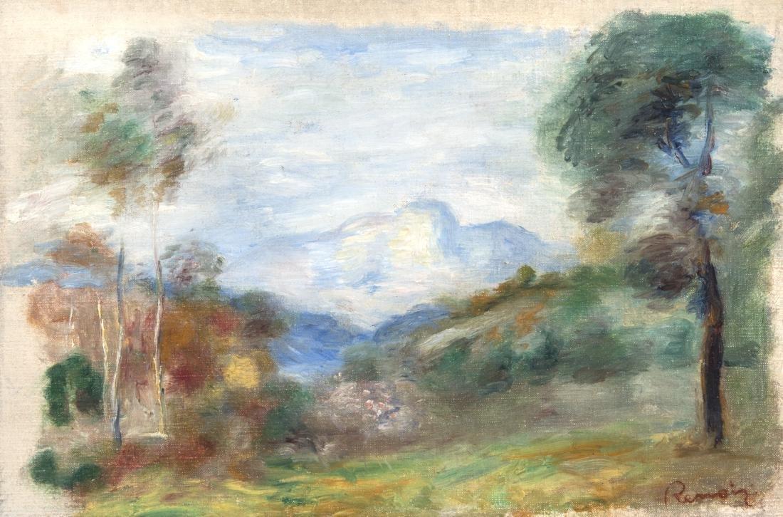 PIERRE-AUGUSTE RENOIR (1841-1919) Valle?e de la Cagnes,