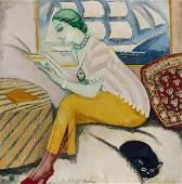 KEES VAN DONGEN (1877-1968) La lecture ou Rabelais