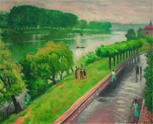 ALBERT MARQUET (1875-1947) Route du bord de la Seine a?