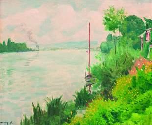 ALBERT MARQUET (1875-1947) Bords de Seine a? Triel
