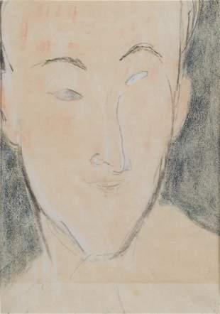 AMEDEO MODIGLIANI (1884-1920) Portrait d'homme (recto) ;