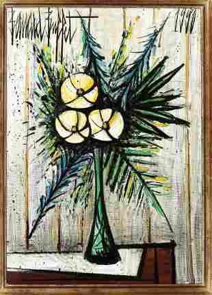 BERNARD BUFFET (1928-1999) Lauriers blancs dans un vase