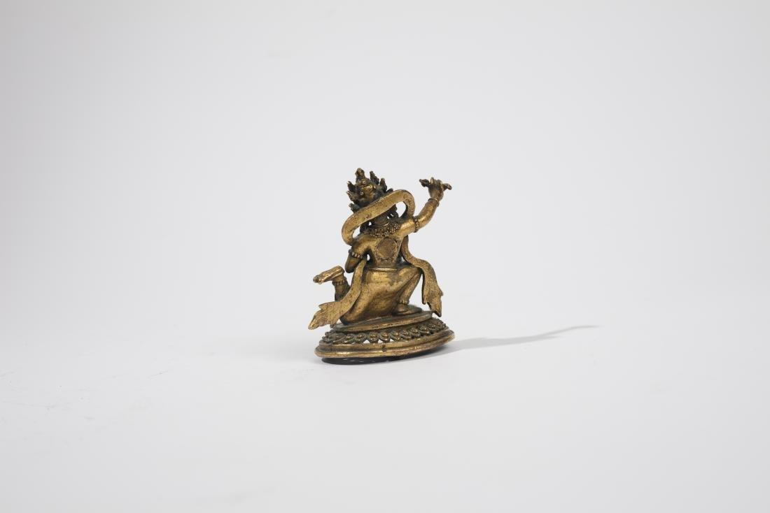 Statuette de Daikini en bronze dore? - 2
