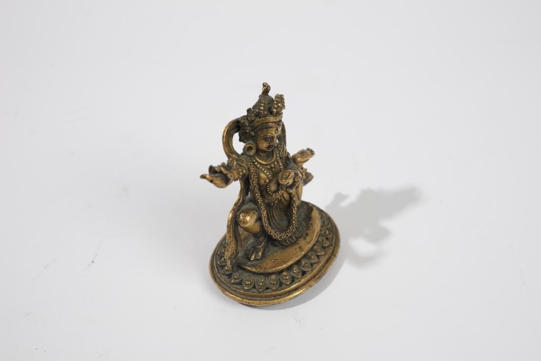 Statuette de Daikini en bronze dore? - 3