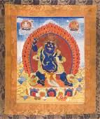 Mahakala tenant le vajra