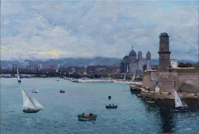 Jean-Baptiste OLIVE (1848-1936)  La Major et les ports
