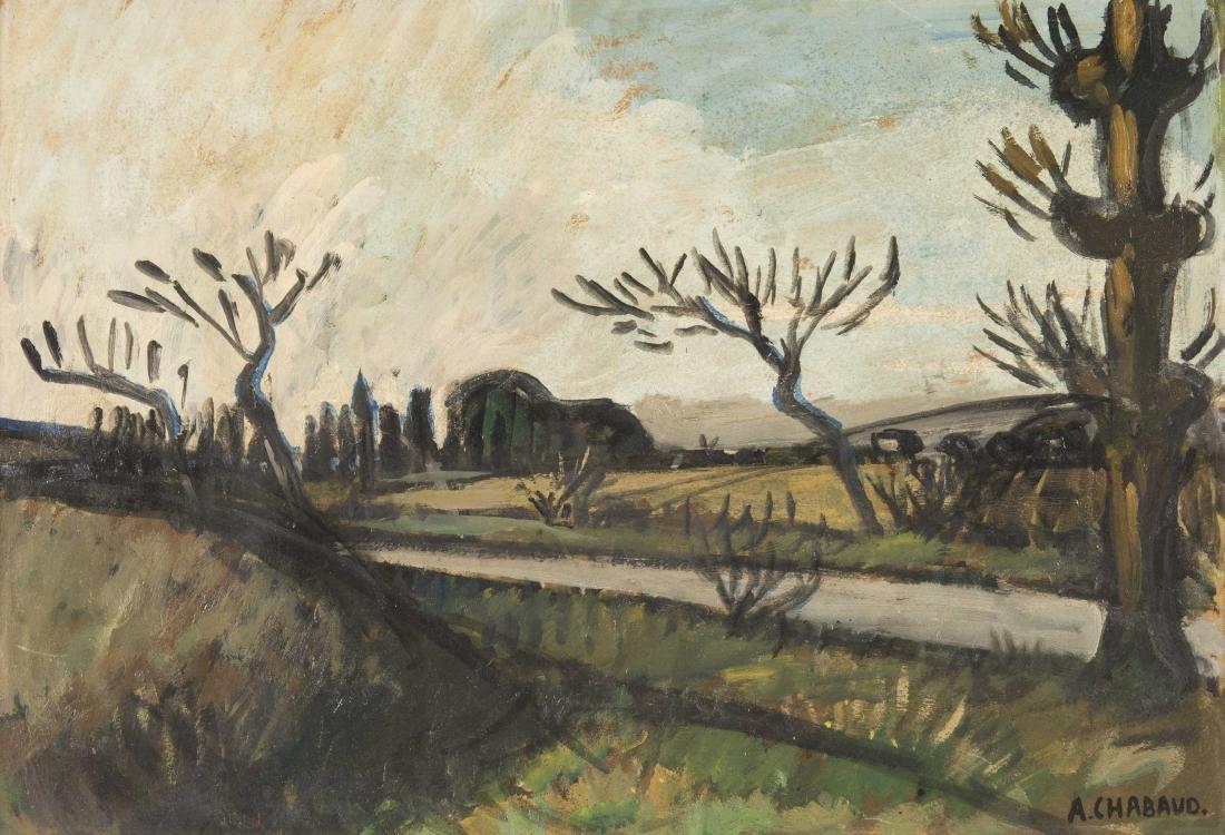 Auguste CHABAUD (1882-1955)  Les oliviers au bord de la