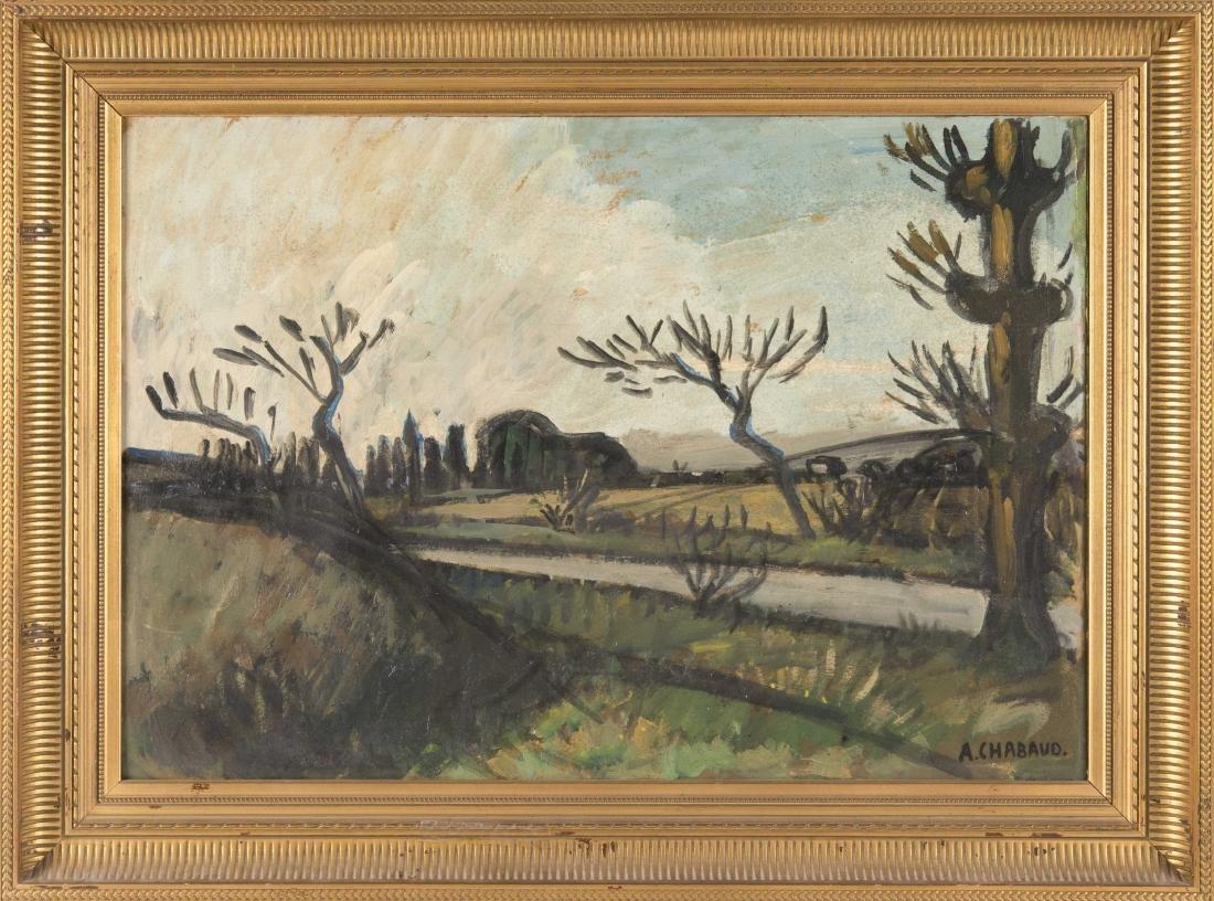 Auguste CHABAUD (1882-1955)  Les oliviers au bord de la - 2