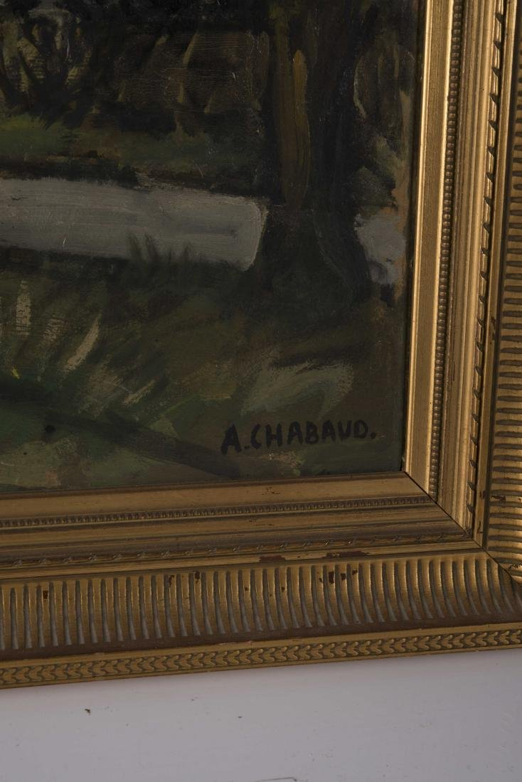 Auguste CHABAUD (1882-1955)  Les oliviers au bord de la - 4