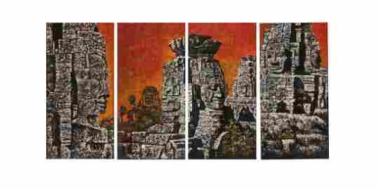 NGUYEN GIA TRI (1908-1993) Le temple d'Angkor ou