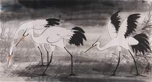 LIN FENGMIAN (1900-1991), attribué à  Trois