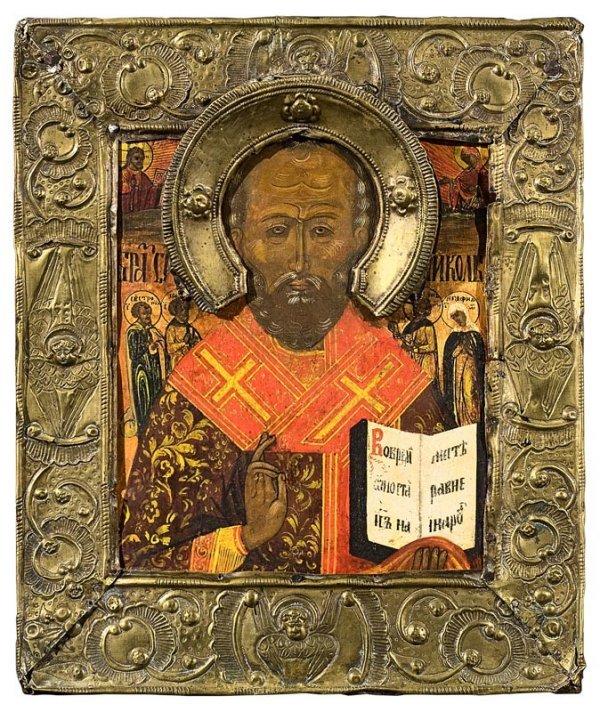 5: Saint Nicolas. Russie, XIXème siècle. Bon état, okla