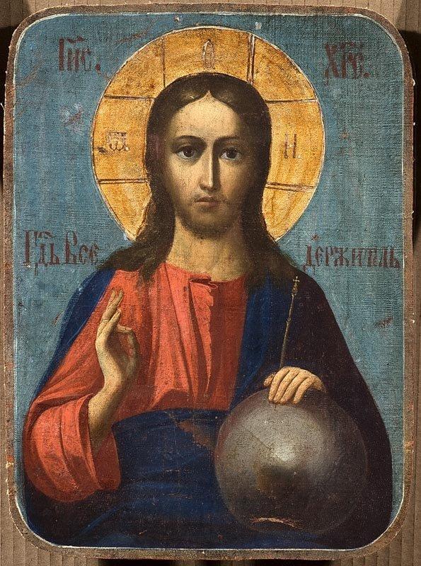 8: Icône double : Christ Pantocrator, le Prophète Elie.