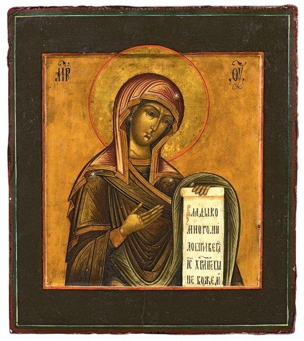 24:  Vierge de Deïseis. Icône, Russie, XIXème siècle. 3