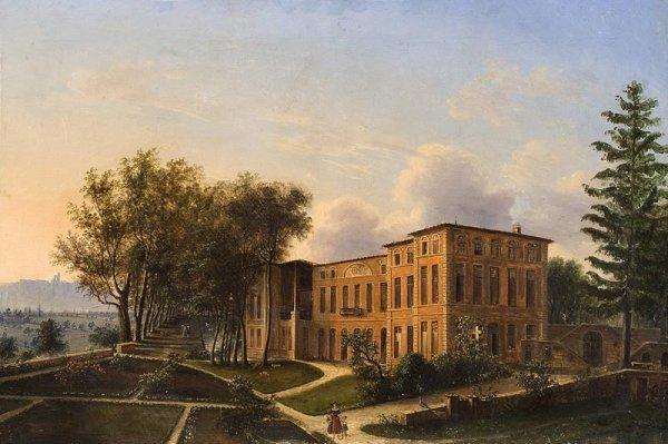 1008: Ecole italienne du XIXème siècle. Promenade dans