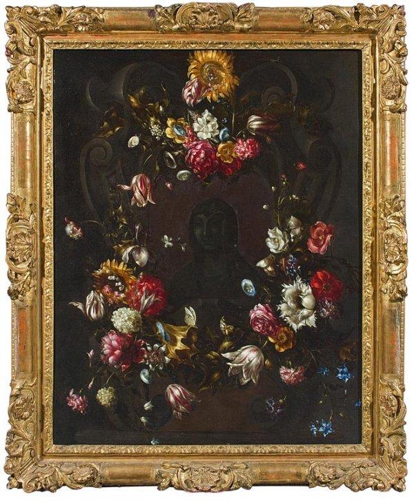 1009:  Jean PHILIPS VAN THIELEN Guirlande de fleurs orn