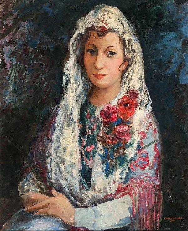 1022:  Pedro CREIXAMS ( 1893 - 1965 ) Jeune femme à la