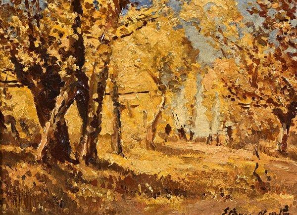 1094: Etienne MARTIN (1913-1995) Les glaneurs. Huile su
