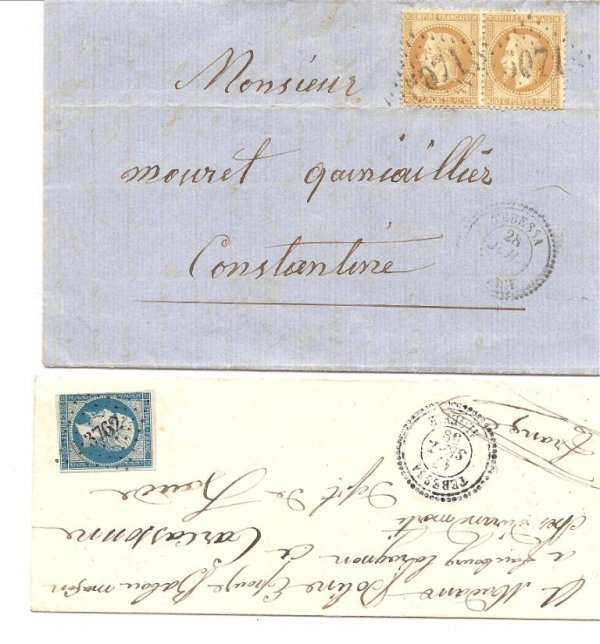 2: France : timbres classiques sur lettresoblitérations