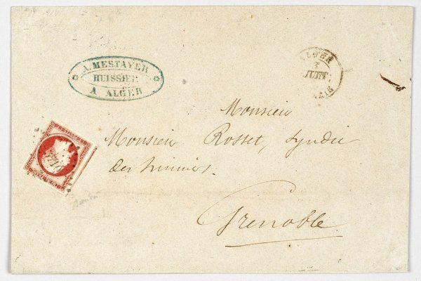 6:  France : lettre du 3 Juin 1854 affranchieavec Yvert