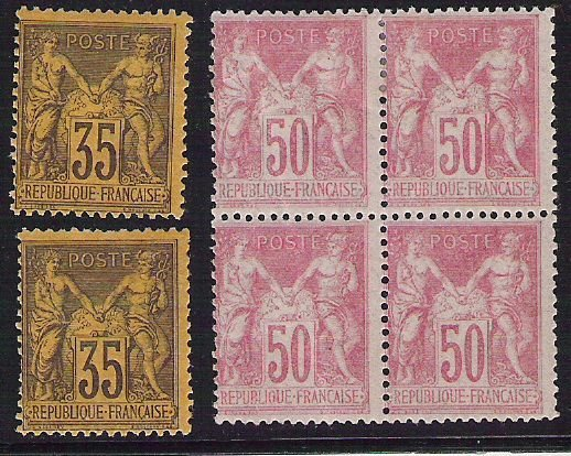 11: France : Type Sage, timbres-poste neufsYvert n°93 x