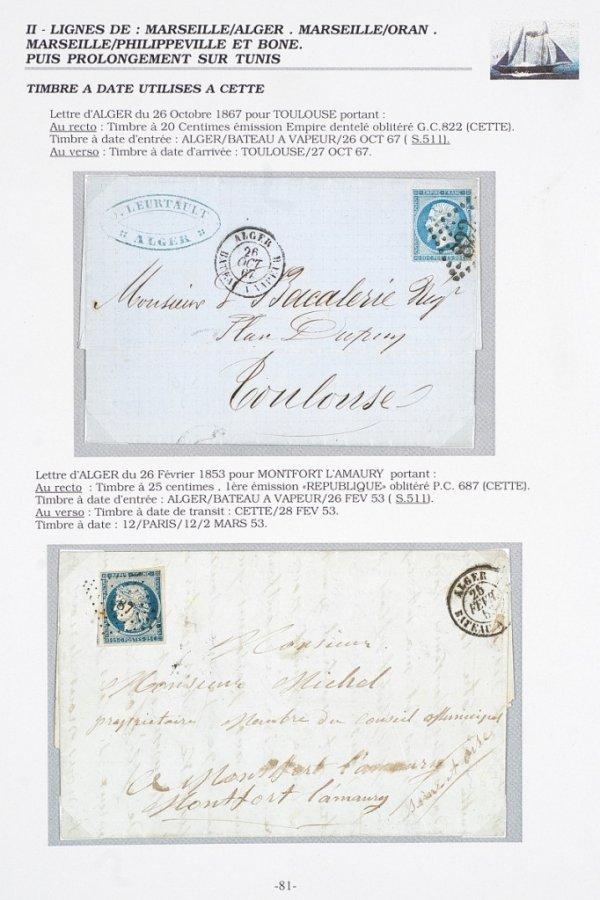 14: France : Collection d'oblitérations maritimes sur l