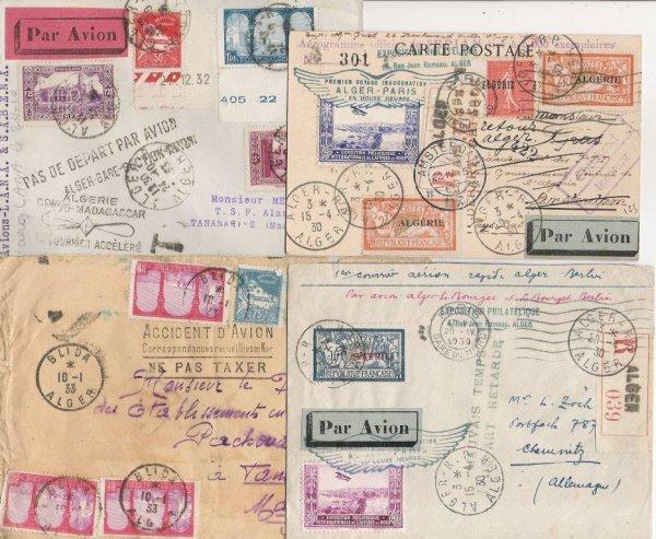 15: Algérie : plis aériens entre les années 1909/1963do