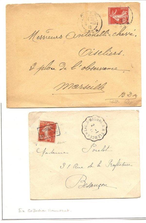 23: France : XXe siècle timbres-poste utilisés en Algér