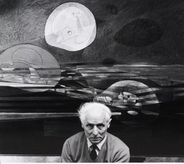 """1013:  """"REINHART WOLF (1930-1998)Portrait de Max ERNST,"""