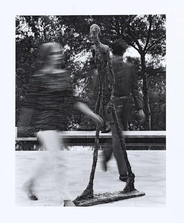 "1016:  ""GILLES EHRMANN (1928-2008)Giacometti à la Fonda"