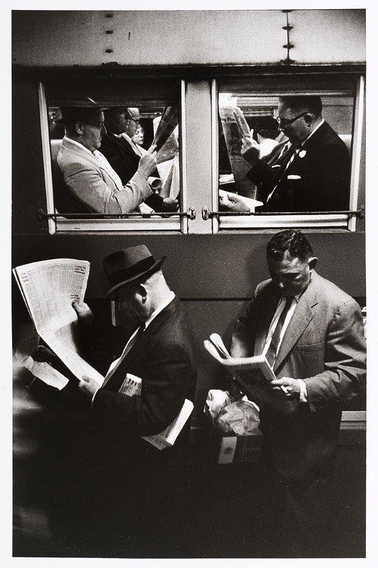 """1020:  """"LOUIS STETTNER (Né en 1922)Métro à New York, c."""