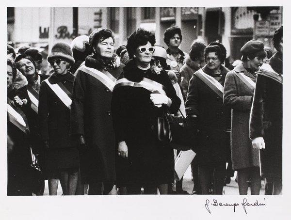 """1022:  """"GIANNI BERENGO-GARDIN (Né en 1930)Rassemblement"""