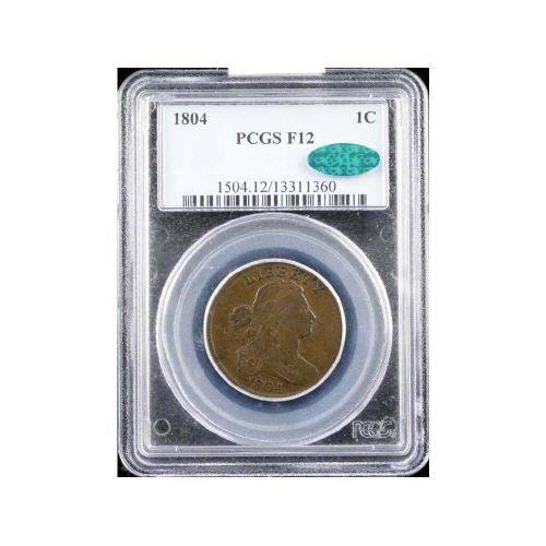 11: 1C 1804 PCGS F12 CAC  Large Cent