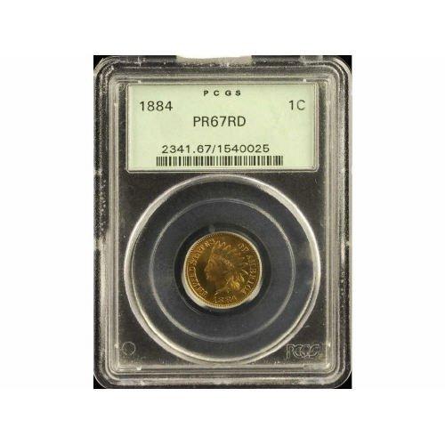 17: 1C 1884 PCGS PR67 RD Small Cent