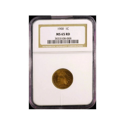 18: 1C 1900 NGC MS65 RD Small Cent