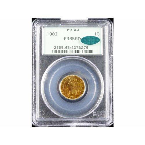 19: 1C 1902 PCGS PR65 RD CAC Small Cent