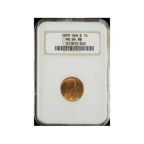 20: 1C 1909-S VDB NGC MS64 RB Small Cent