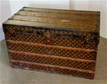 LOUIS VUITTON MONOGRAMMED STEAMER TRUNK, 1920S