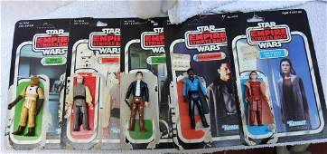 5 LOOSE ESB STAR WAR FIGURES W/ CARDBACKS