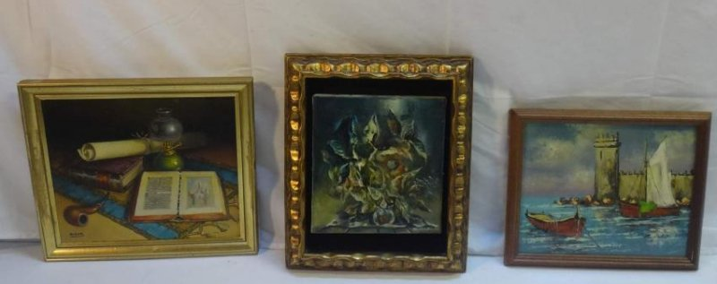 3 PC, OIL ON CANVAS, SIGNED VARGAS,