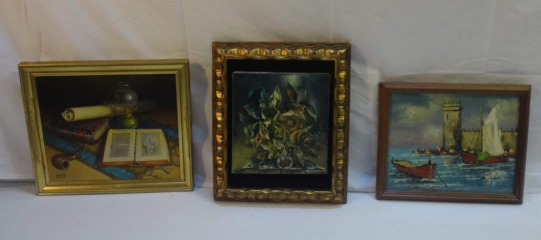 3 PC, OIL ON CANVAS, SIGNED VARGAS, - 2