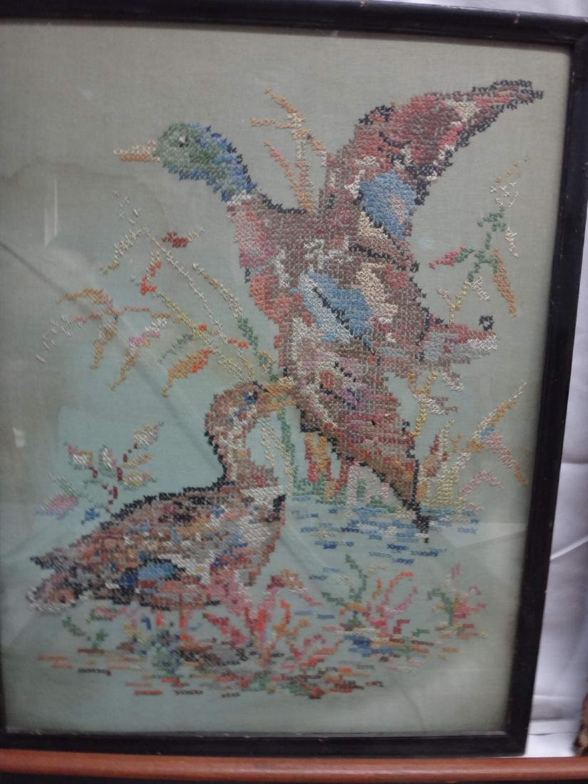 NEEDLEPOINT WORKS  /RE-PRODUCTION PRINT/ CROSS-STITCHED - 2