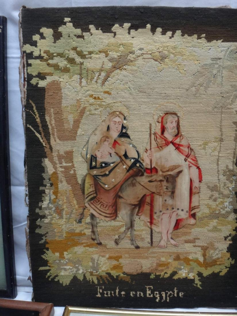 NEEDLEPOINT WORKS  /RE-PRODUCTION PRINT/ CROSS-STITCHED - 3