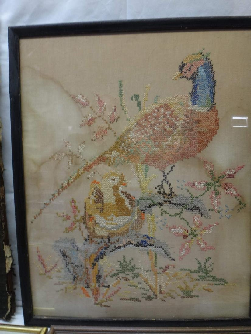 NEEDLEPOINT WORKS  /RE-PRODUCTION PRINT/ CROSS-STITCHED - 4