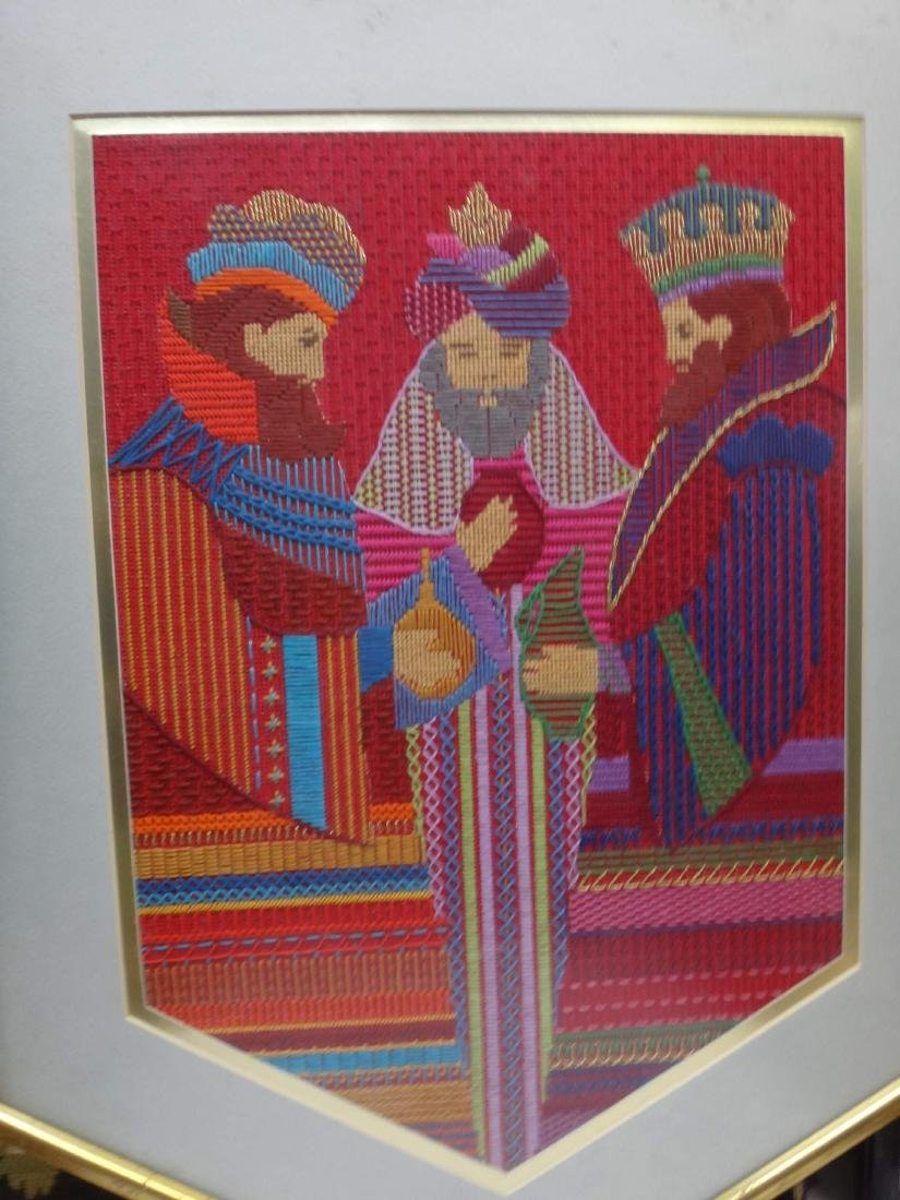 NEEDLEPOINT WORKS  /RE-PRODUCTION PRINT/ CROSS-STITCHED - 5