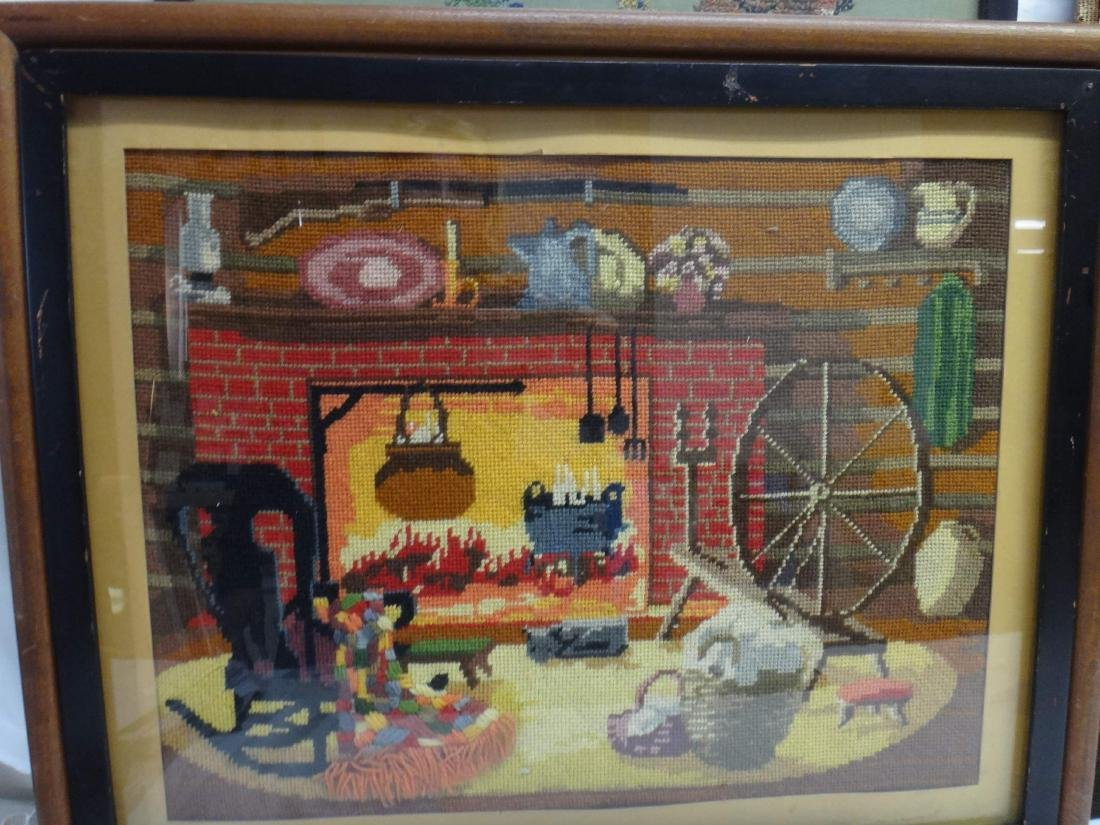 NEEDLEPOINT WORKS  /RE-PRODUCTION PRINT/ CROSS-STITCHED - 6