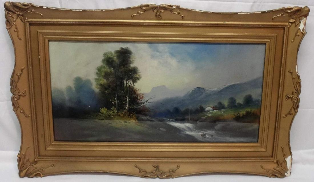 WILLIAM CNADLER PASTEL LANDSCAPE